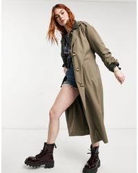 ONLY Longline Trench Coat - Brown
