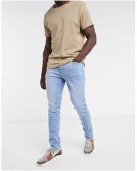 Hollister Jeans skinny lavaggio medio super luminoso - Blu