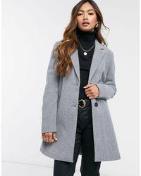 Vero Moda Темно-серое Строгое Пальто -серый