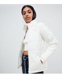 d7f115ea05a8 Lyst - PUMA Down Filled Cream Jacket With Hood in White