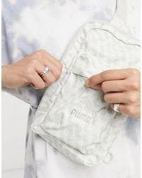 PUMA All Over Print Cross Body Bag - White