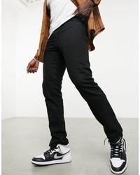 TOPMAN Straight Leg Jeans - Black