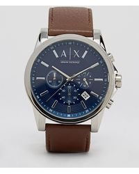 Armani Exchange - Ax2501 Leather Strap Watch - Lyst