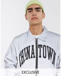 Chinatown Market Arc Reflective Coach Jacket - Metallic