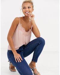 Lipsy Lace Trim Cami Top - Multicolor