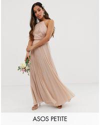 ASOS Vestido largo estilo pichi con corpiño fruncido Bridesmaid - Multicolor