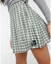 Bershka Minifalda plisada - Multicolor