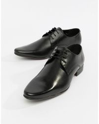 ASOS Derby Shoes In Black Leather