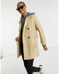 Vero Moda Trench-coat court - Beige - Noir