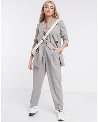 ASOS Mansy - Blazer pour costume 3 pièces - Taupe texturé - Gris