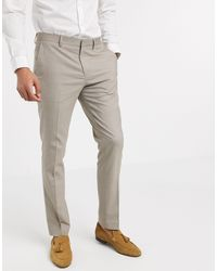 SELECTED – Eng geschnittene Stretch-Anzughose - Grau