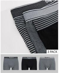 Pepe Jeans Radi 3 Pack Trunk - Black
