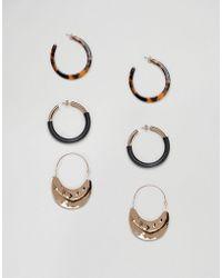 Stradivarius - Multi Pack Earrings - Lyst