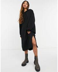 Weekday Macie Midi Hoodie Dress - Black