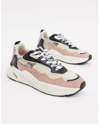 Stradivarius Mixed Panel Sneakers - Multicolor
