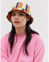 ASOS Stripe Bucket Hat - Multicolour