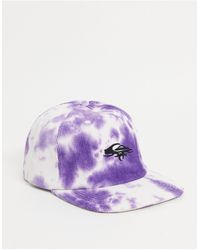 Quiksilver - Фиолетовая Вельветовая Кепка С Принтом Тай-дай Og-фиолетовый Цвет - Lyst