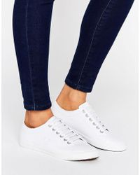 Fred Perry - Kingston White Leather Sneakers - Lyst