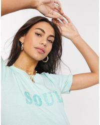 B.Young Soul - T-shirt à inscription - Vert