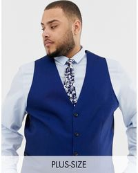 River Island Big & tall - Veston - Bleu