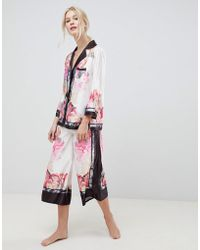 Ted Baker - B By Painted Posey Revere Top And Wide Leg Pj Bottoms Set - Lyst