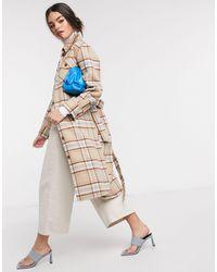 & Other Stories Серо-коричневая Удлиненная Куртка В Клетку Из Переработанной Шерсти -мульти - Многоцветный