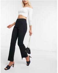 Vero Moda Черные Брюки С Разрезами -черный Цвет