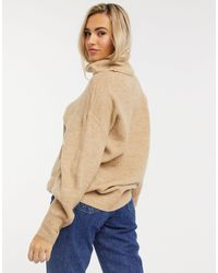 New Look Slouchy Roll Neck Sweater - Multicolour