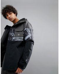 Billabong - Tribong Snow Jacket In Tye Die Black - Lyst