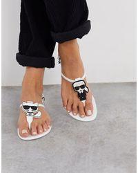 Karl Lagerfeld Белые Сандалии Из Гибкого Пластика -белый