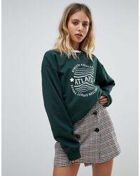 Daisy Street Atlanta Sweatshirt - Green
