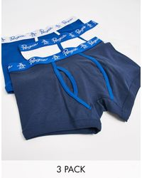 Original Penguin 3 Pack Boxers - Blue