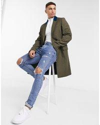 Tommy Hilfiger Пальто Из Шерсти С Контрастным Воротником Collections-зеленый