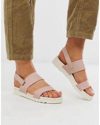 Blink Slingback Flat Sandals - Natural