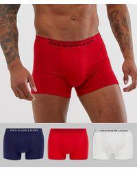 Polo Ralph Lauren Lot de 3 boxers - Multicolore - Rouge