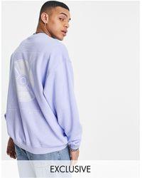 Reclaimed (vintage) Inspired - Sweat-shirt à imprimé vinyle - Bleu