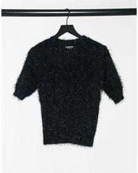 Fashion Union Short Sleeve Sweater - Yellow