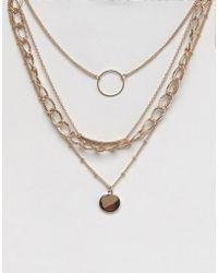 Bershka - Medallion Necklace - Lyst