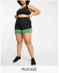 Simply Be Active Double Layered Shorts - Green
