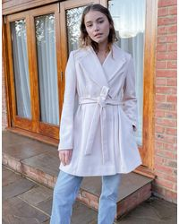 Miss Selfridge Skater Coat - Blue