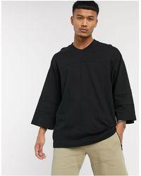 ASOS Heavyweight Oversized Baseball Jersey - Black