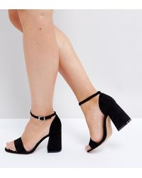 fb4682f63be6 ASOS Asos Tabloid Studded Chunky Sandals in Black - Lyst