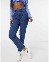 Noisy May – Lizzi – Gerade geschnittene Jeans - Blau