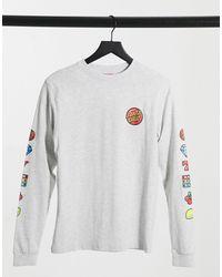 Santa Cruz - Jackpot Dot - T-shirt a maniche lunghe grigia - Lyst