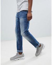 Blend - Slim Fit Distressed Jeans Blue - Lyst