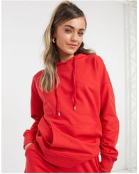 New Look Худи От Комплекта Ярко-красного Цвета -красный