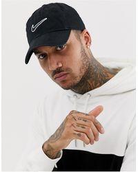 Nike Черная Кепка С Вышитым Логотипом -черный Цвет