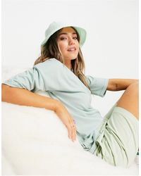 In The Style X Siannise Fudge Oversized T Shirt - Blue