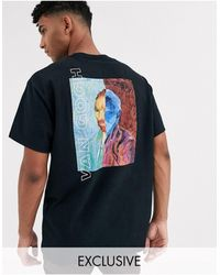 Reclaimed (vintage) T-shirt nera con stampa di van gogh - Nero
