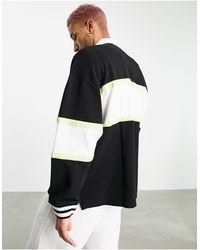 Tommy Hilfiger - Многоцветный Черный Свитшот В Стиле Регби Колор Блок С Нашивкой-логотипом В Виде Флага По Центру -черный Цвет - Lyst